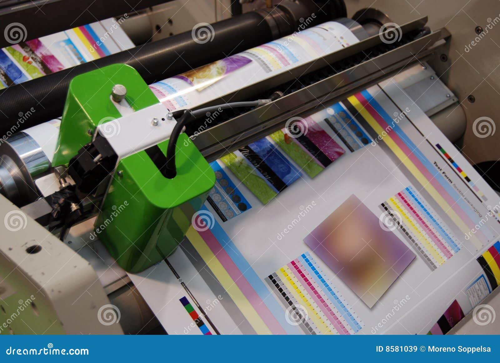 Impression UV de presse de flexo