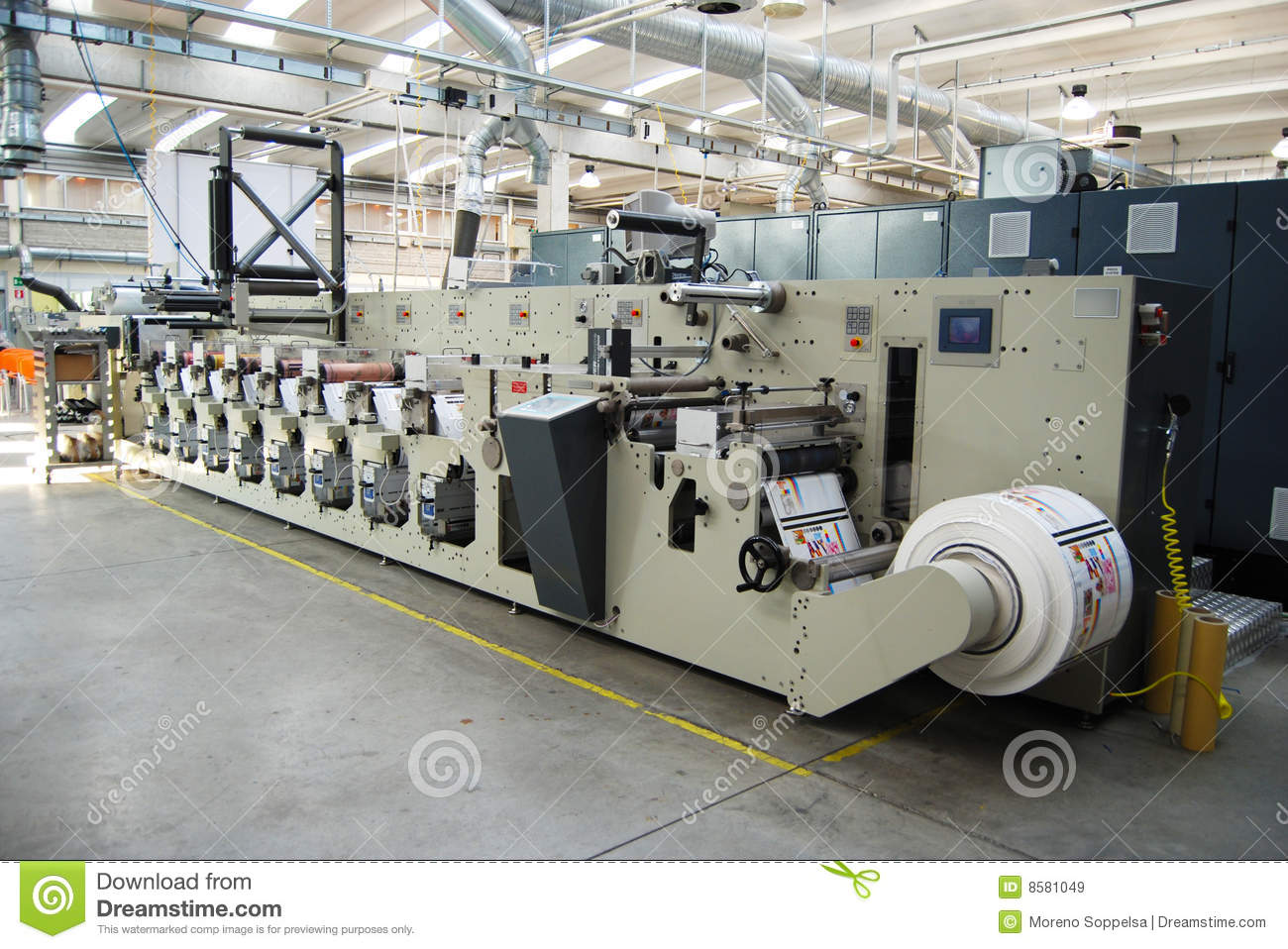 Impression UV de presse de flexo