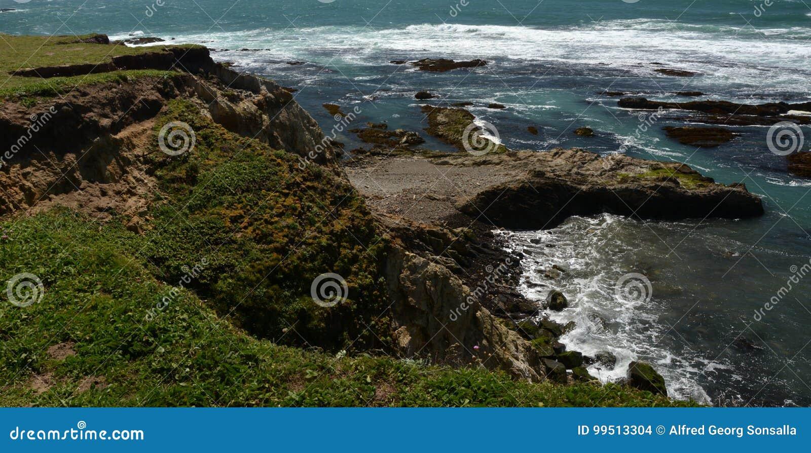 Impressioni delle coste del Pacifico della luce dell arena del punto, California U.S.A.