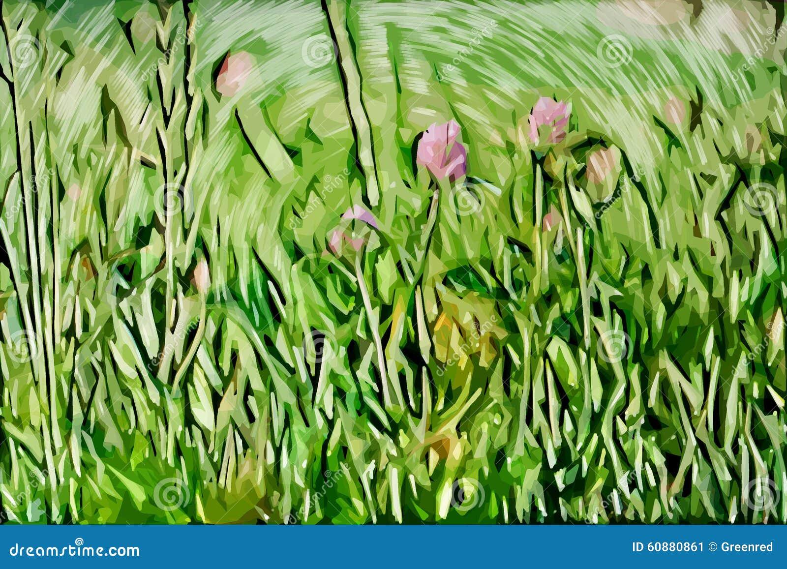 Impressionism painting: Flowers