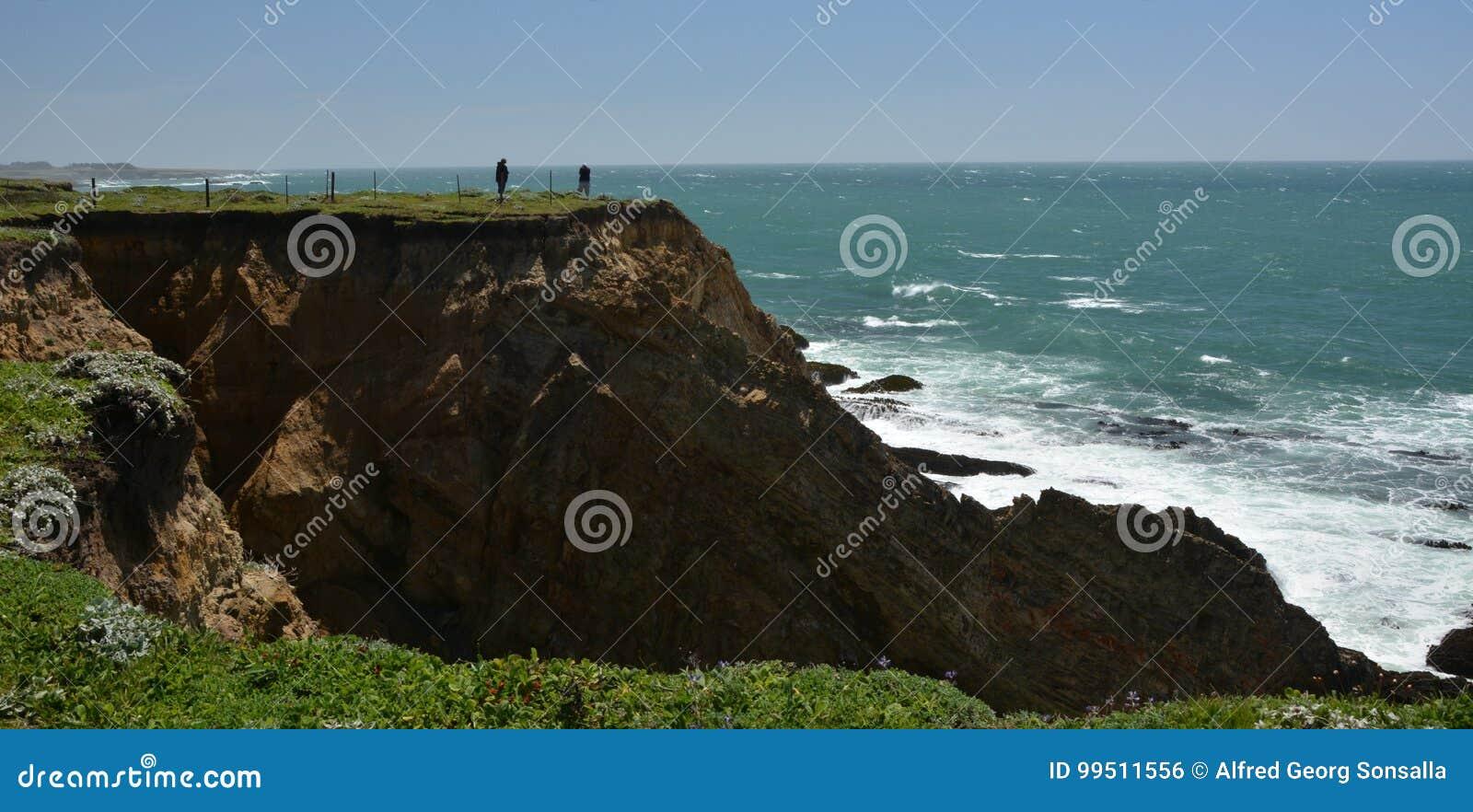 Impressions de Côtes Pacifique de lumière d arène de point, la Californie Etats-Unis