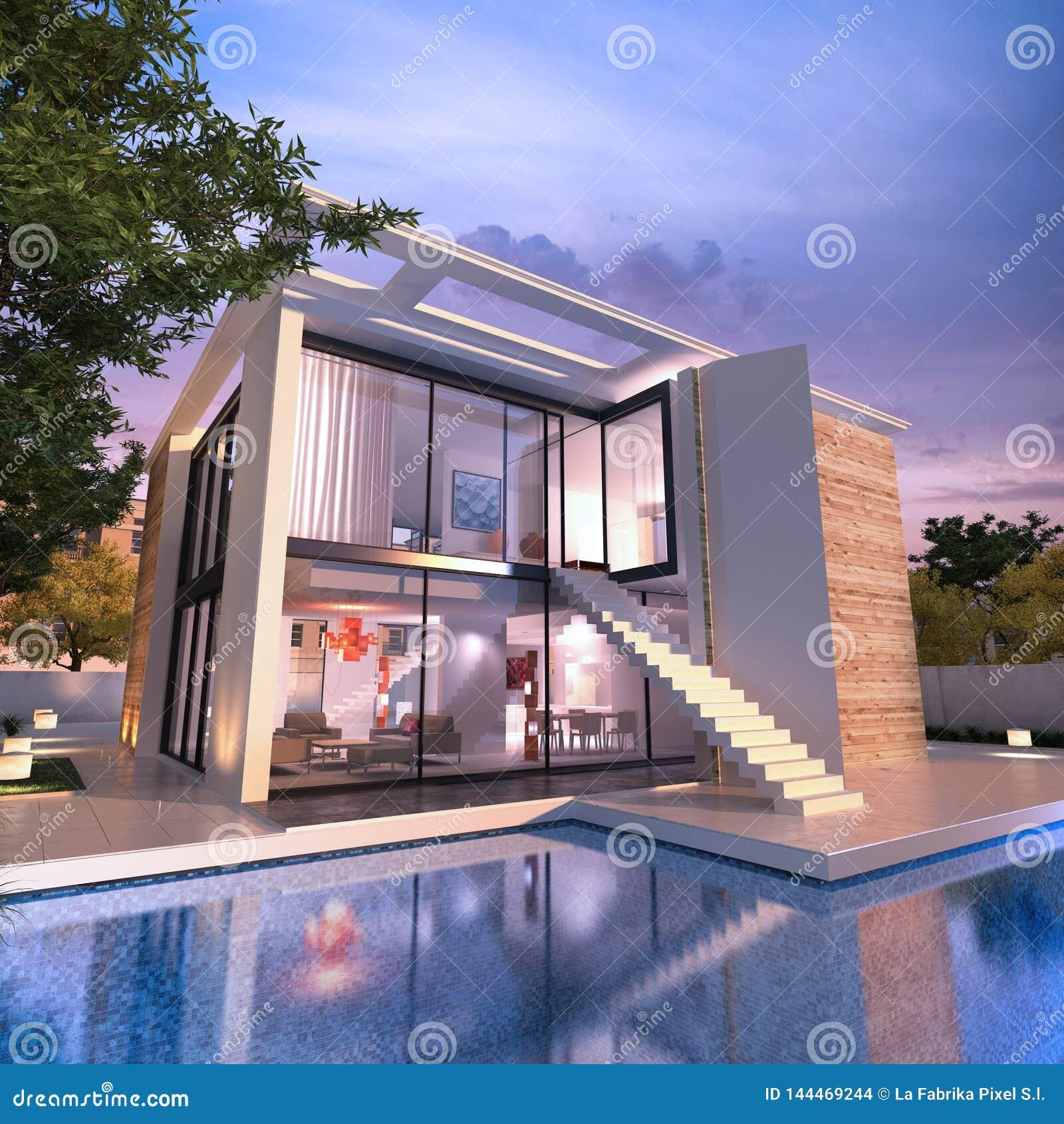 Modern House Pool Stock Illustrations 6 264 Modern House Pool Stock Illustrations Vectors Clipart Dreamstime