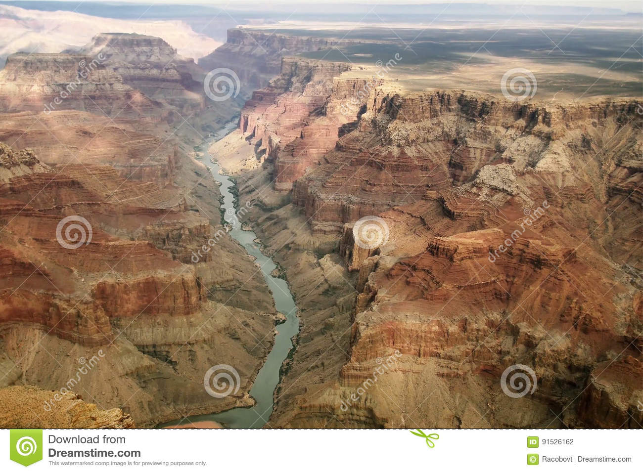 Impressive view over Grand Canyon