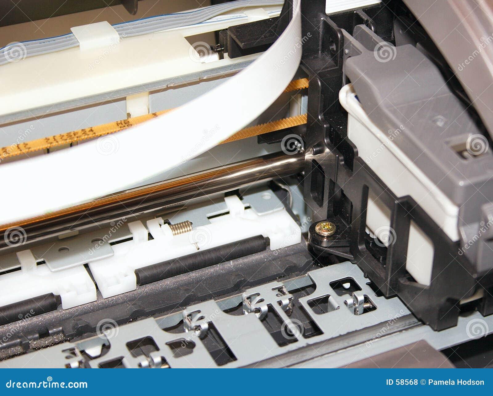 Download Imprimante photo stock. Image du métal, chariot, balais - 58568