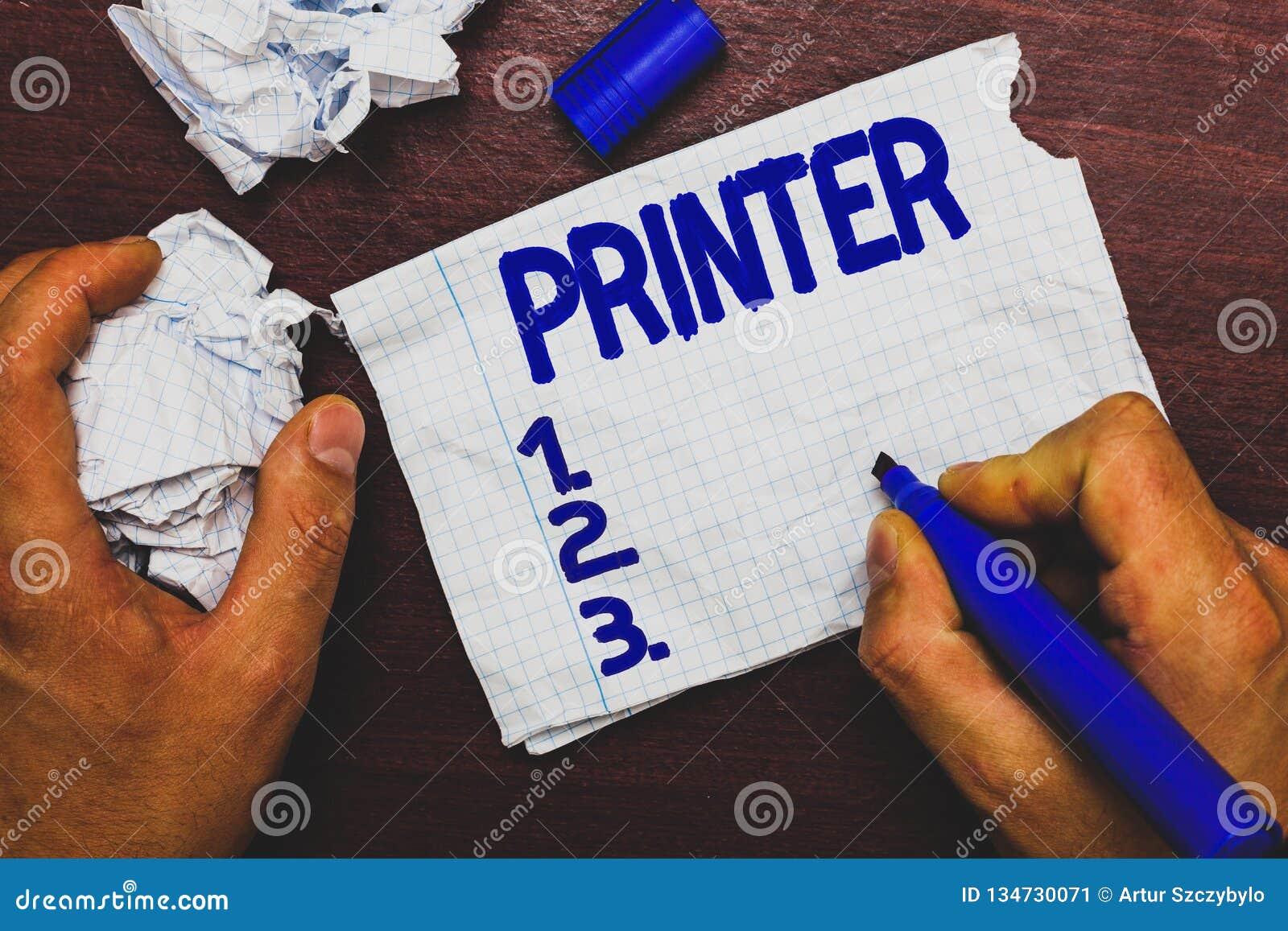 Imprimante d écriture des textes d écriture Dispositif de signification de concept utilisé pour imprimer des choses faites sur l