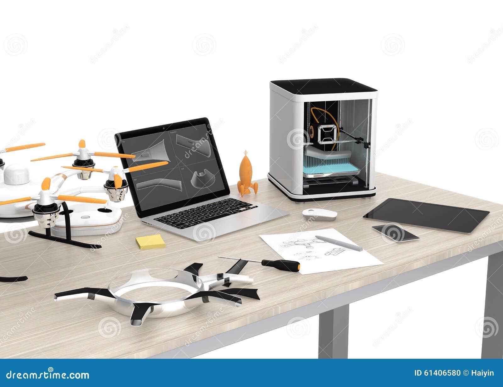 imprimante 3d ordinateur portable tablette et bourdon. Black Bedroom Furniture Sets. Home Design Ideas