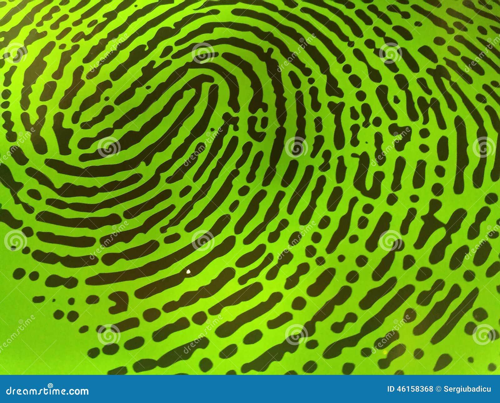 Impronta digitale verde