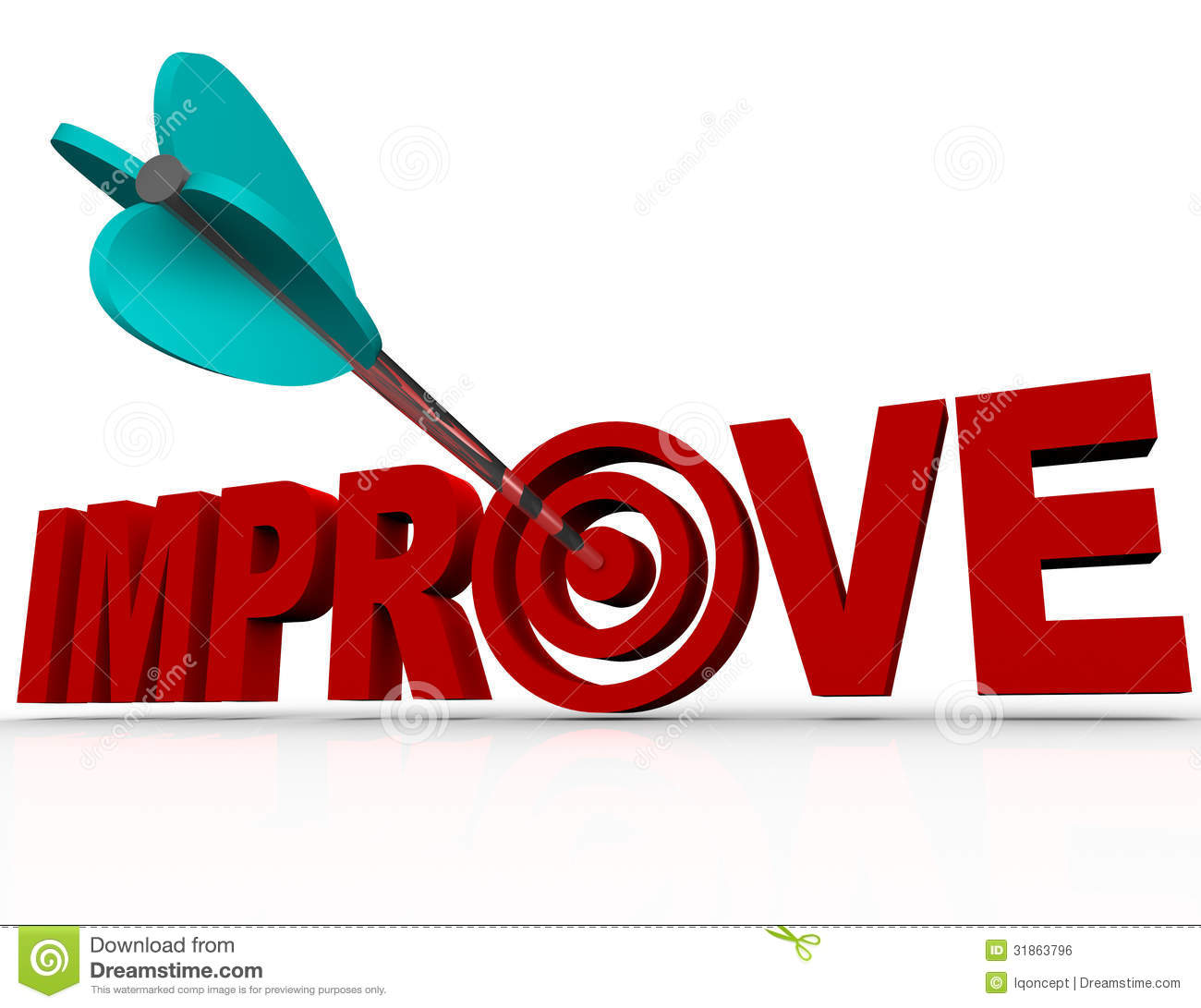 Improve Arrow In Target - Successful Improvement Goal Royalty Free ...