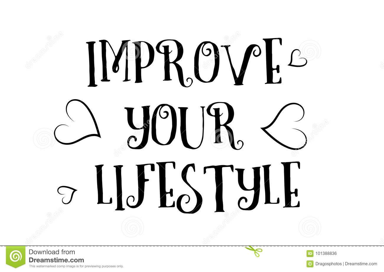 Improve Your Lifestyle Love Quote Logo Greeting Card Poster Desi