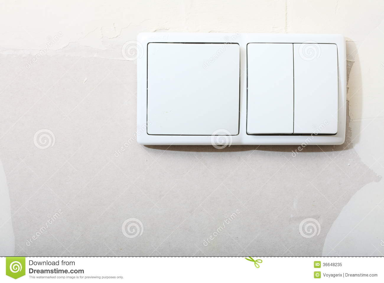 Improvement Renovation At Home. Electrical Light Switch Stock Image ...