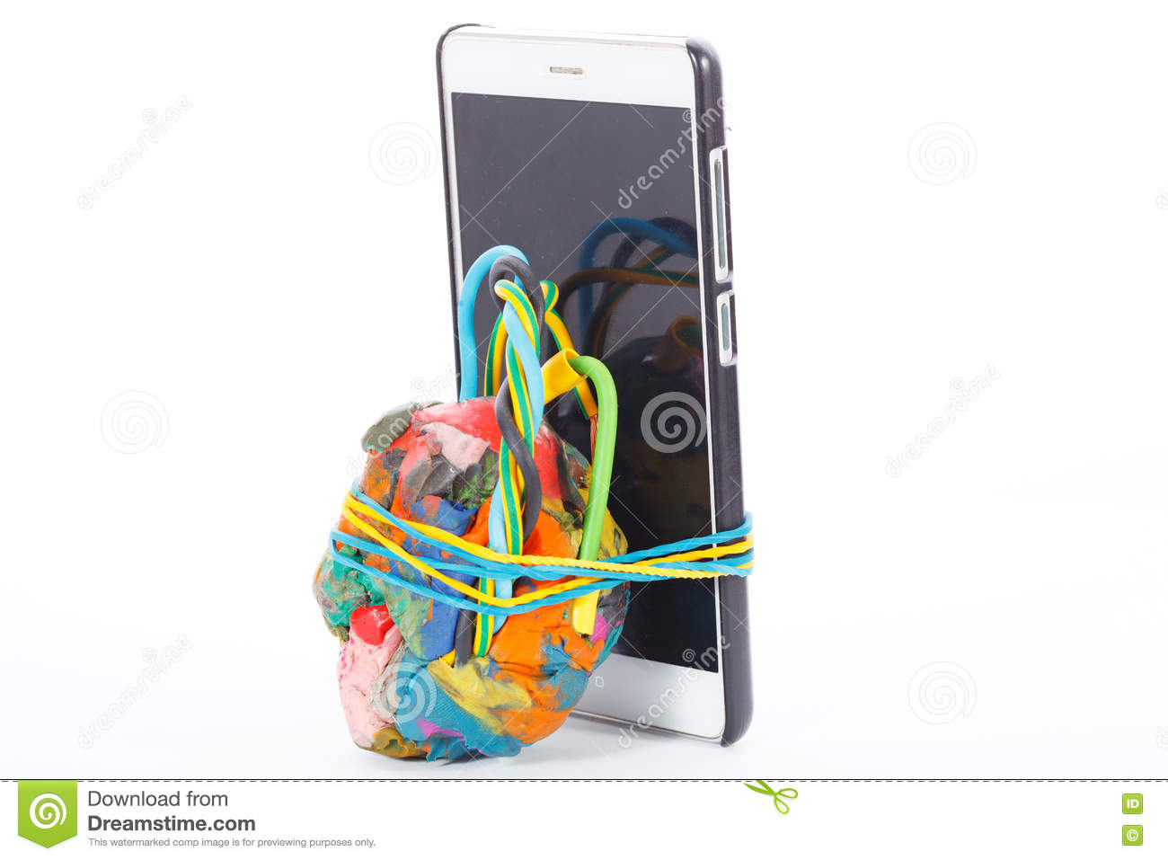Improvised Explosive Device Connected To Cellphone Stock Photo ...