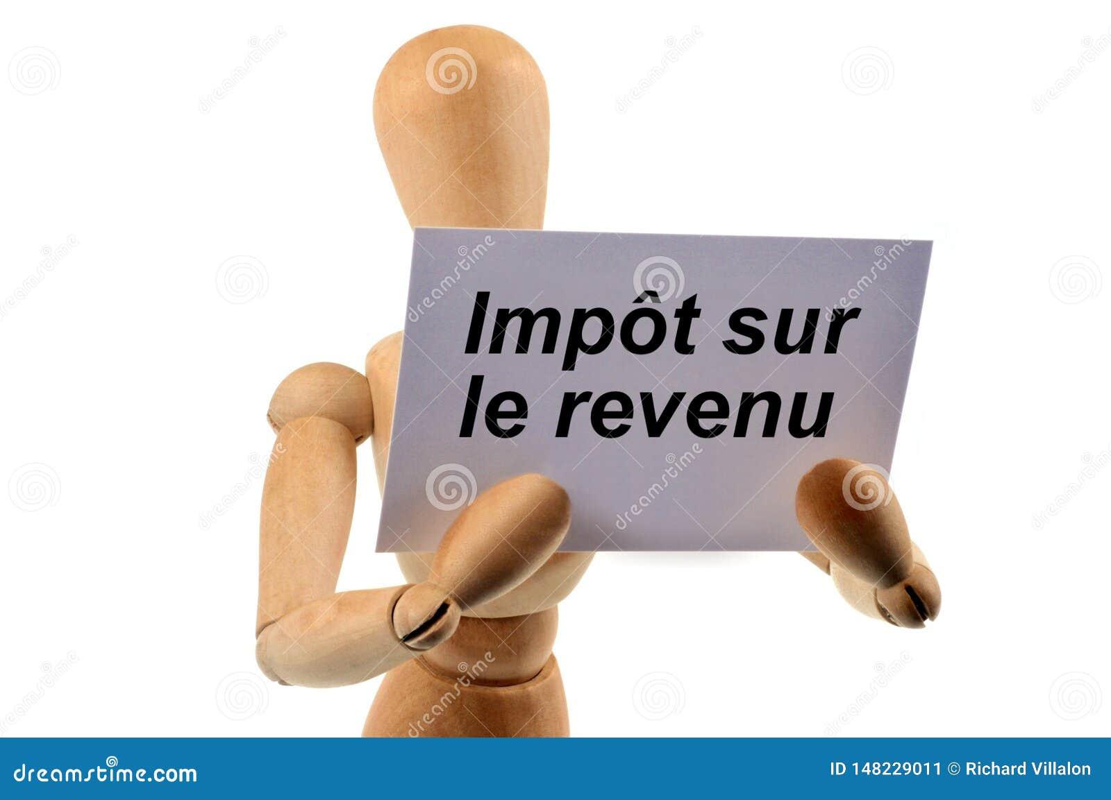 Impuesto sobre la renta escrito en francés