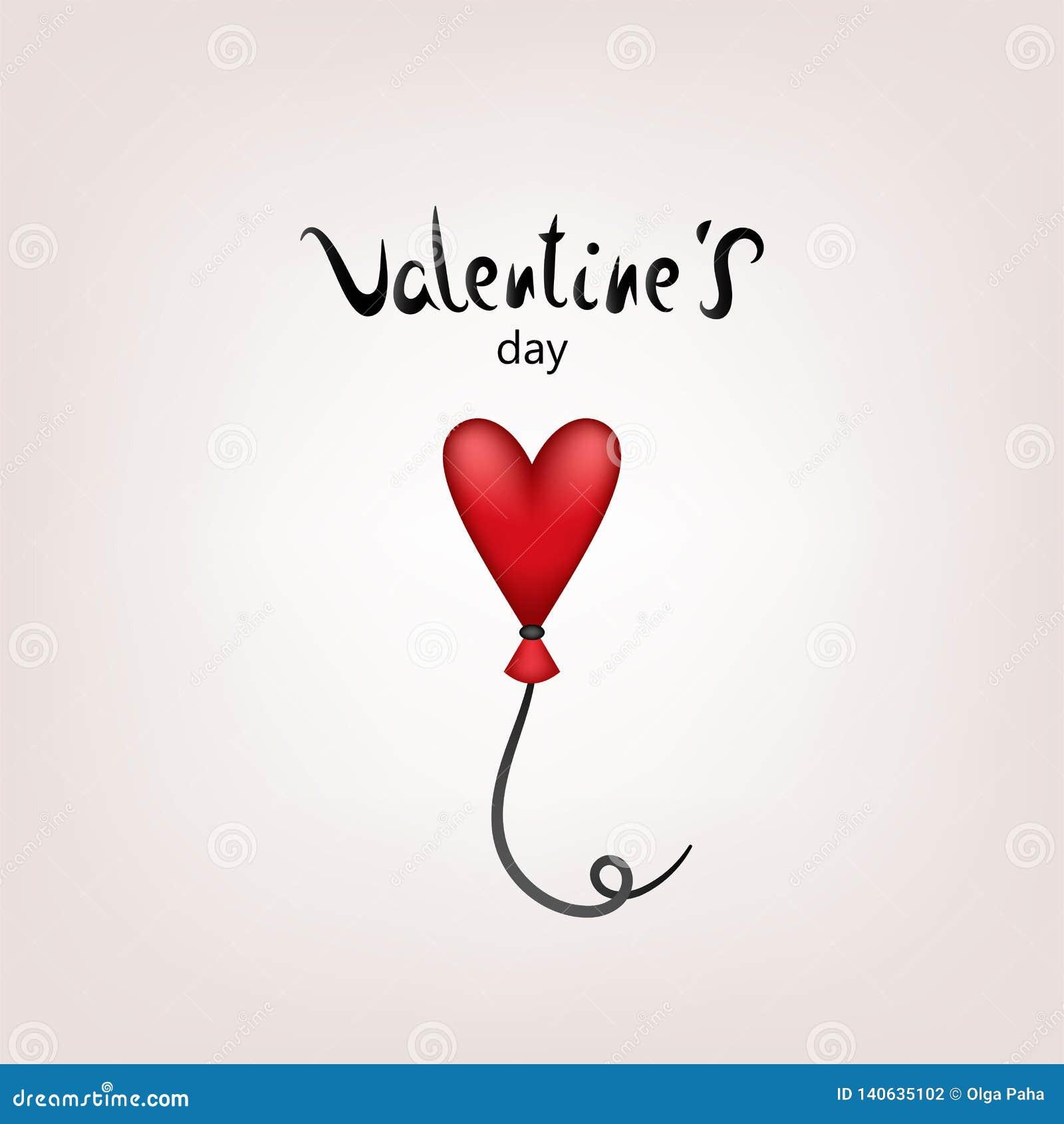 Impulso de la tarjeta de la tarjeta del día de San Valentín
