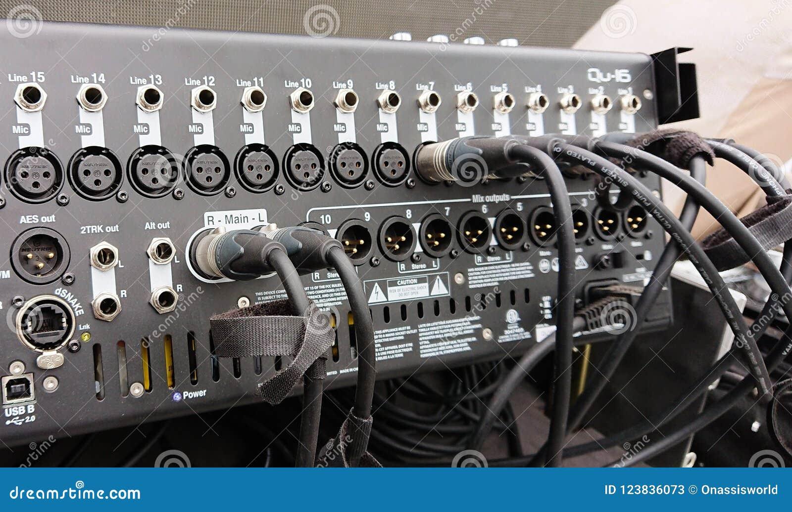 Professional 16 Channel Audio Mixer Stock Image Of Studio 3 Mics 123836073