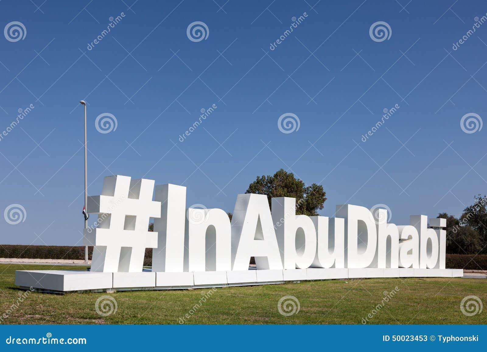 InAbuDhabi świergotu hashtag rzeźba