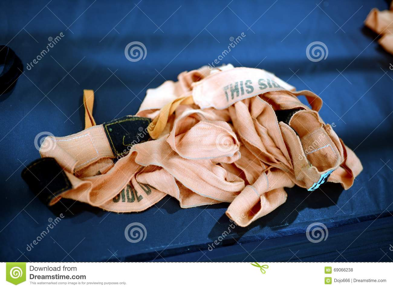 Inaccurately Thrown Sports Bandage Stock Photo - Image: 69066238