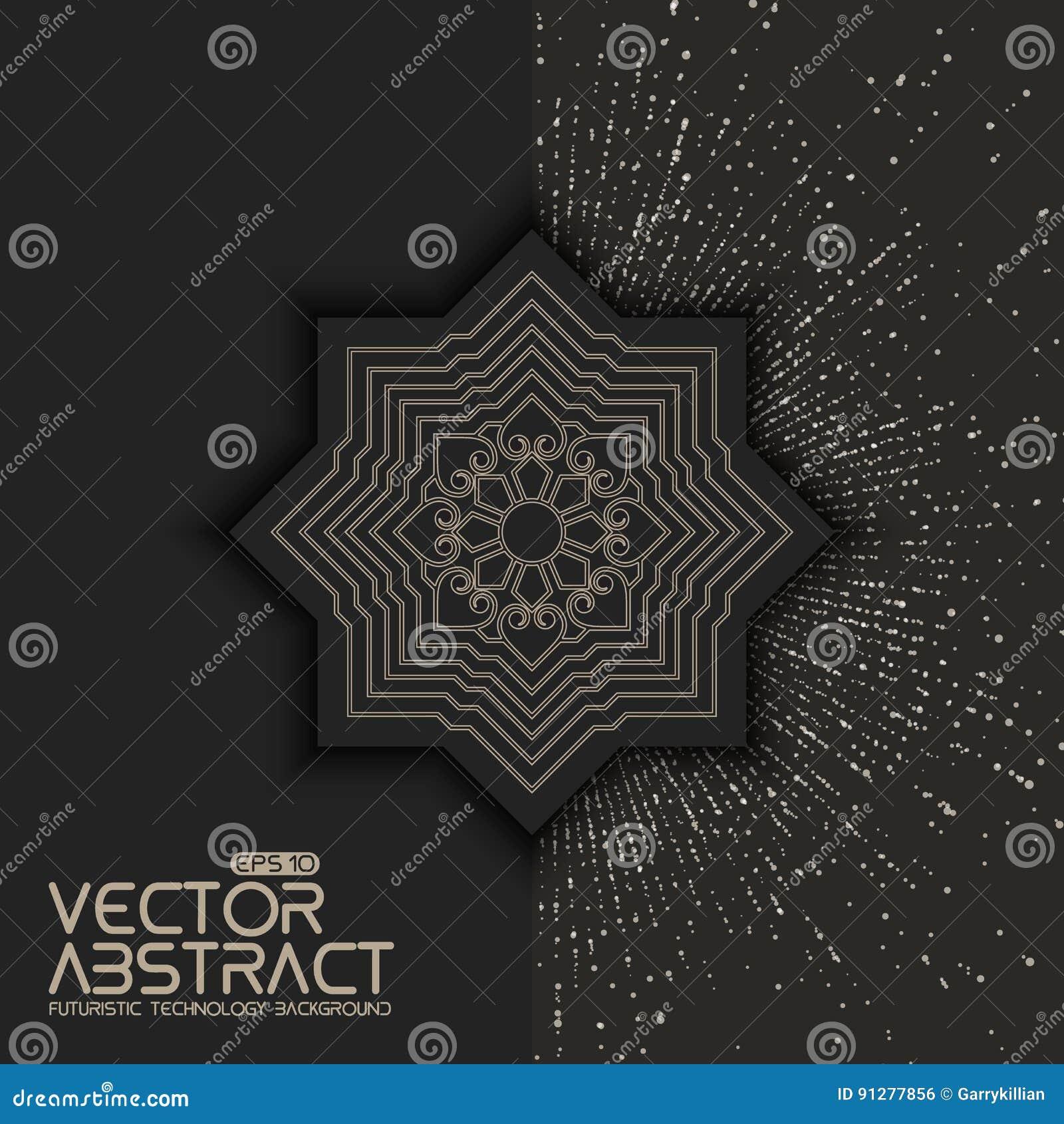 Inbjudan kort med etniska arabesquebeståndsdelar Zentangle utformade beståndsdelen Arabesquestildesign