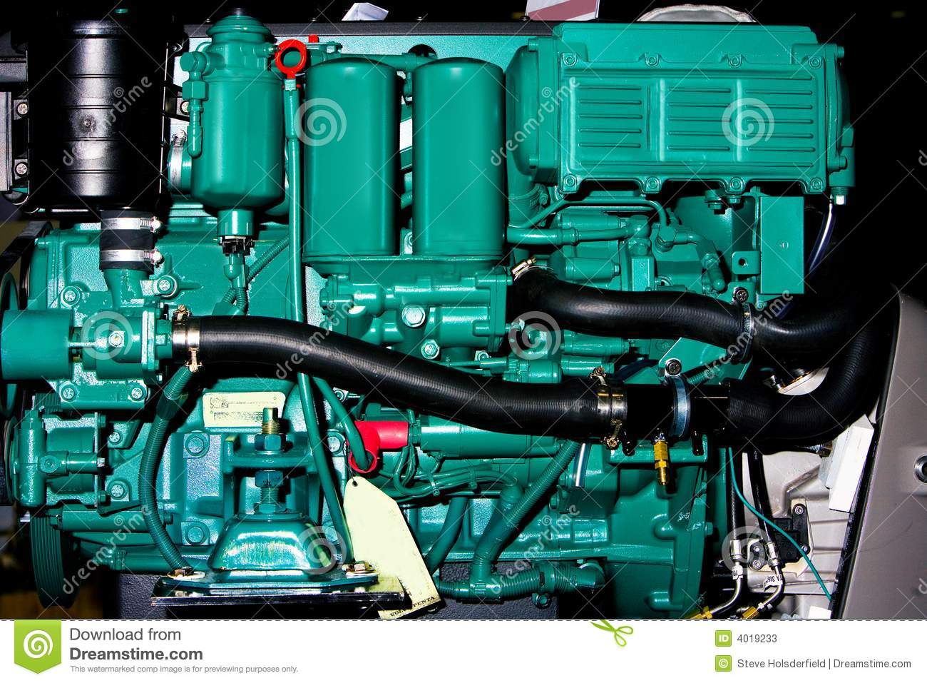 Inboard Boat Engine Stock Image Image Of Mechanical