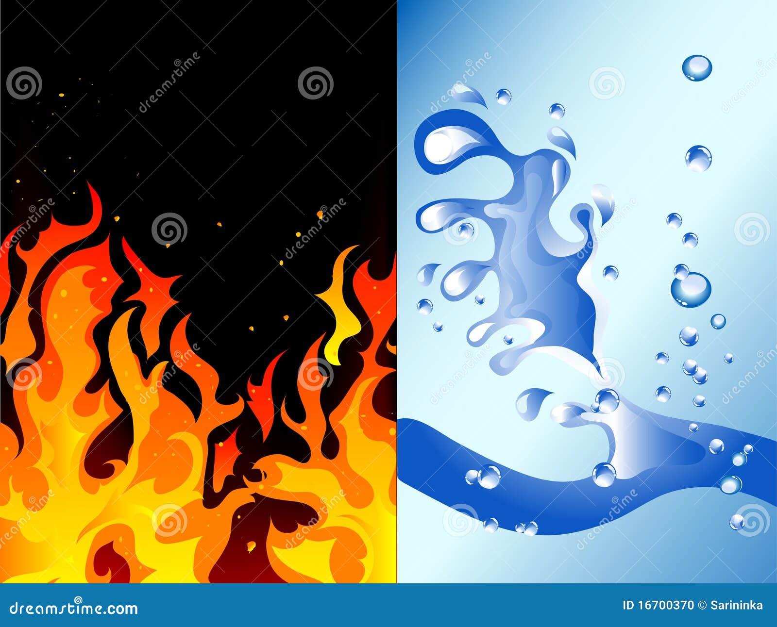 Incêndio e água