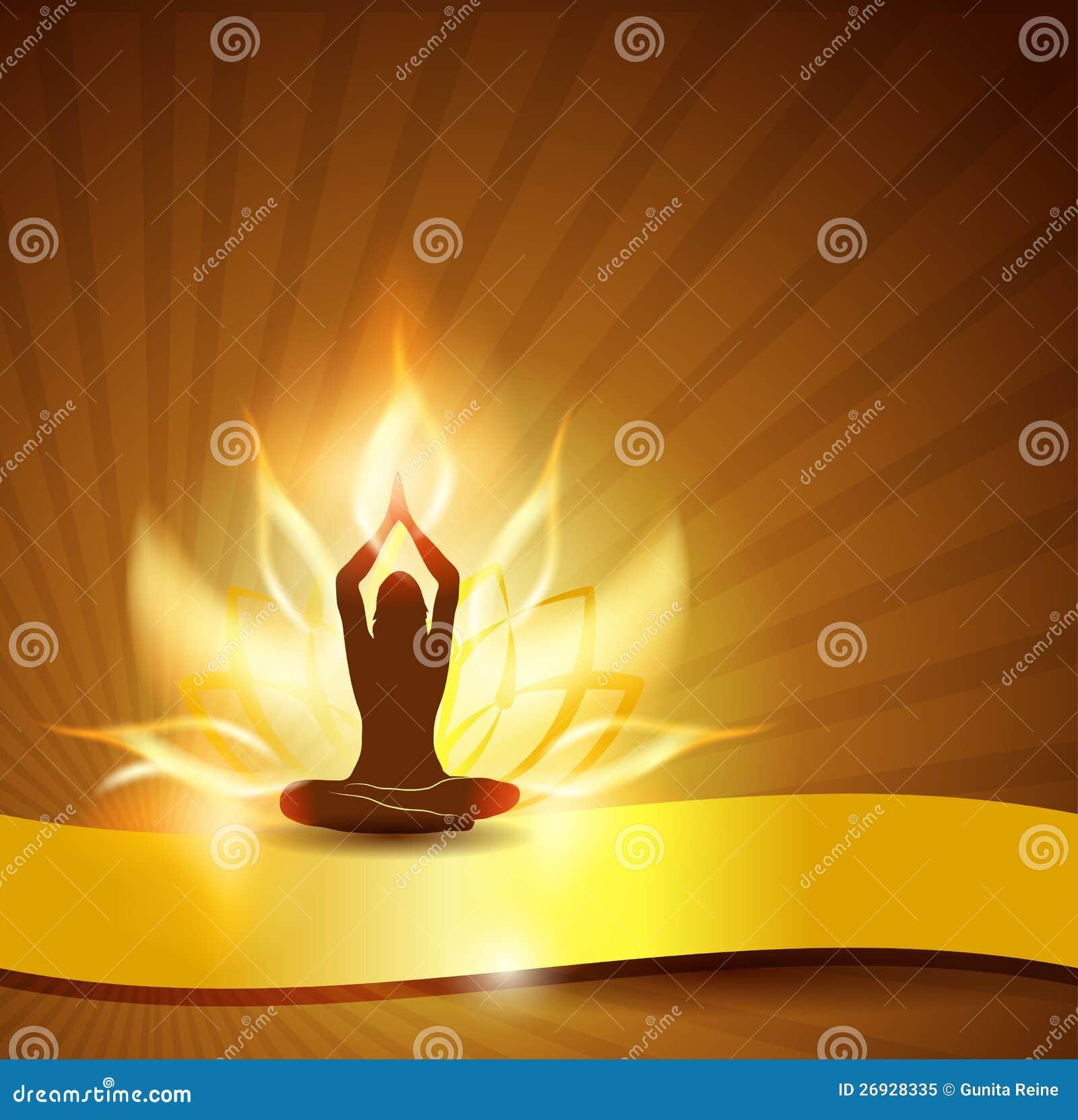 Incêndio e ioga da flor dos lótus
