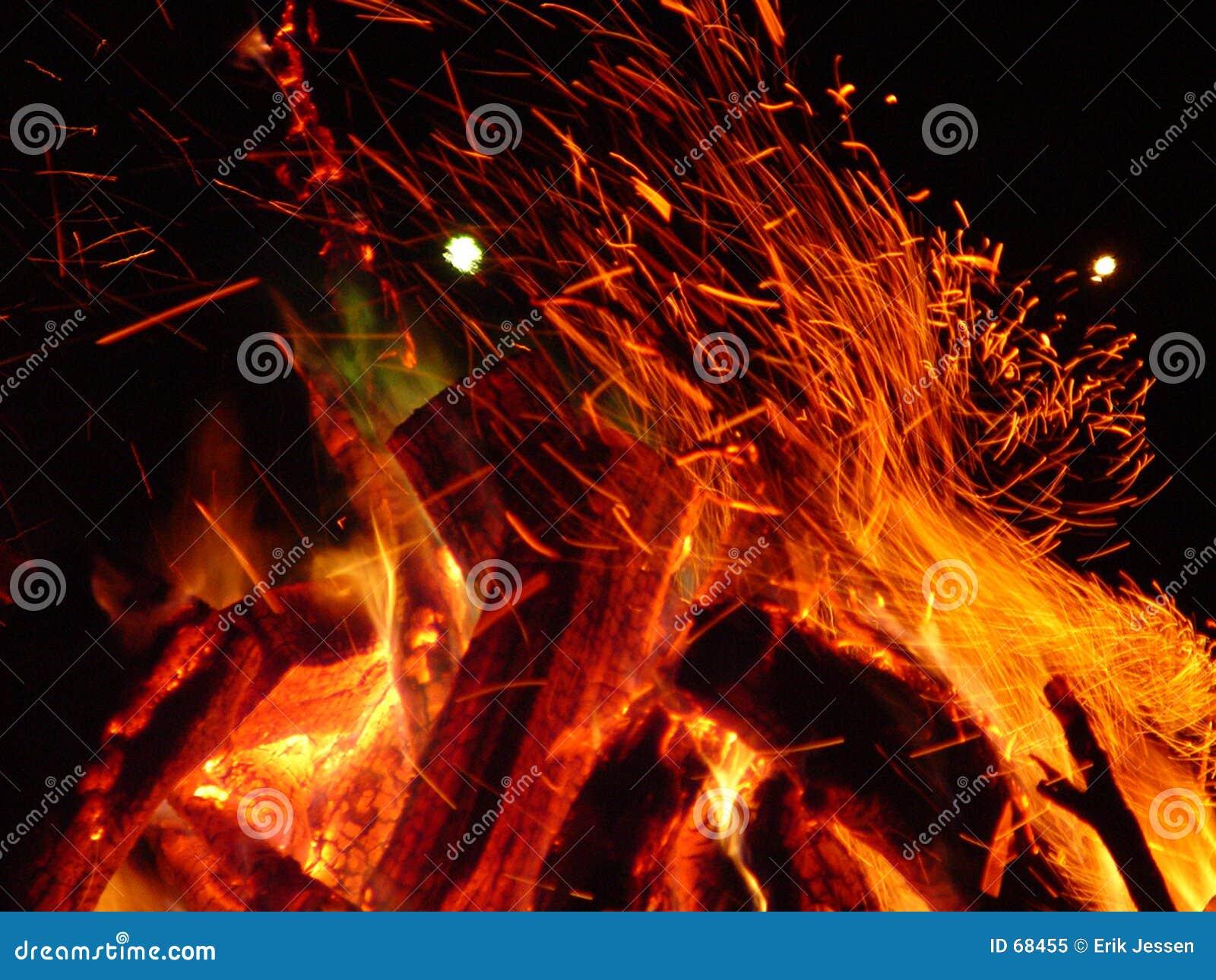 Incêndio em chamas