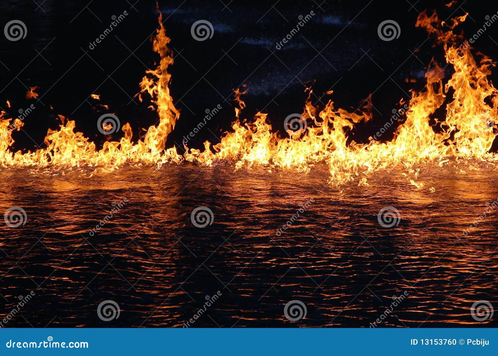 Incêndio na água
