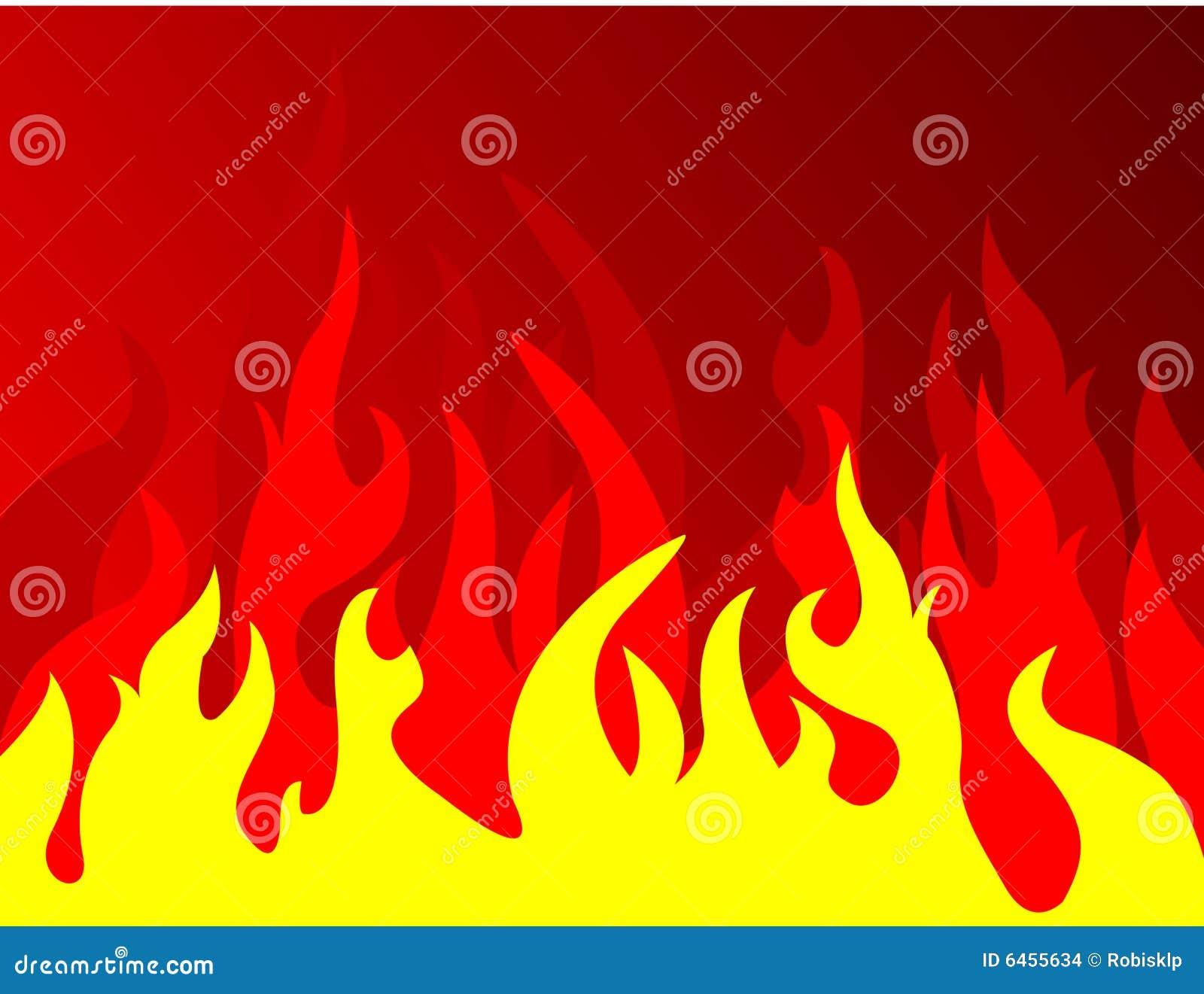 Incêndio no fundo vermelho