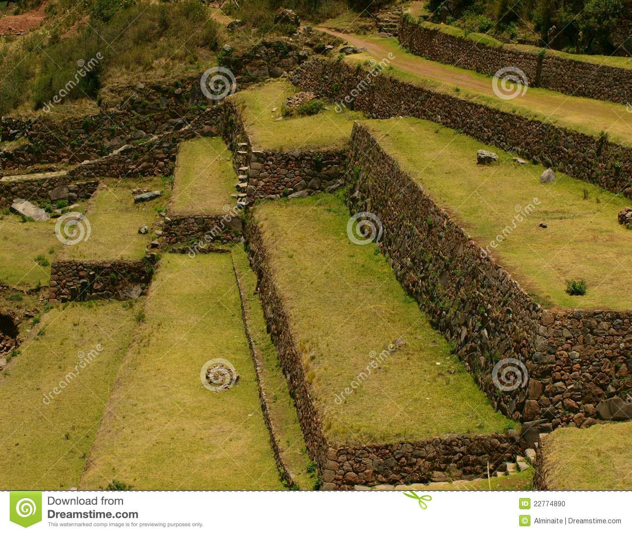 Inca Agriculture Terraces Stock Photo - Image: 22774890