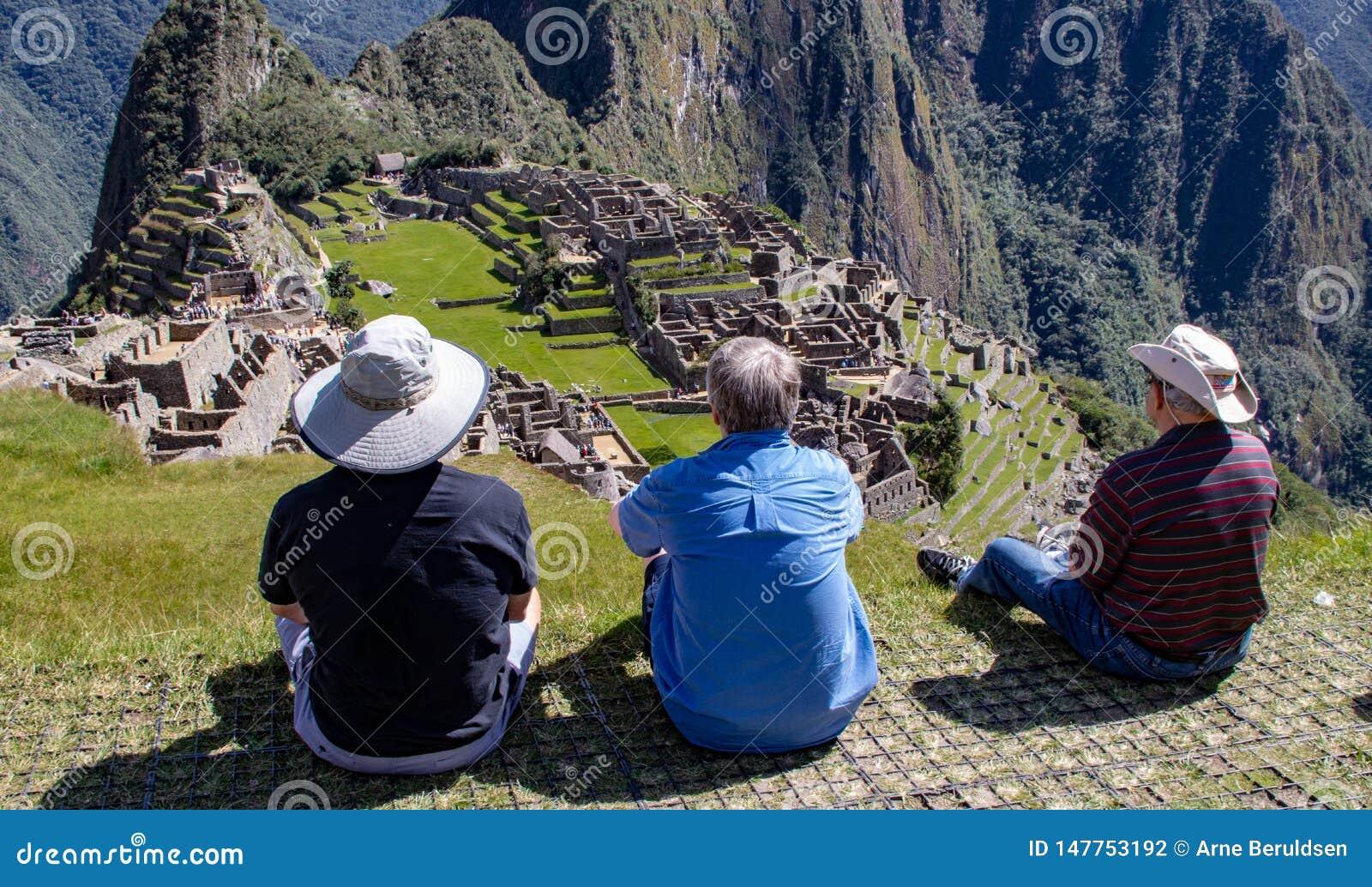 The Inca Ruins at Machu Picchu