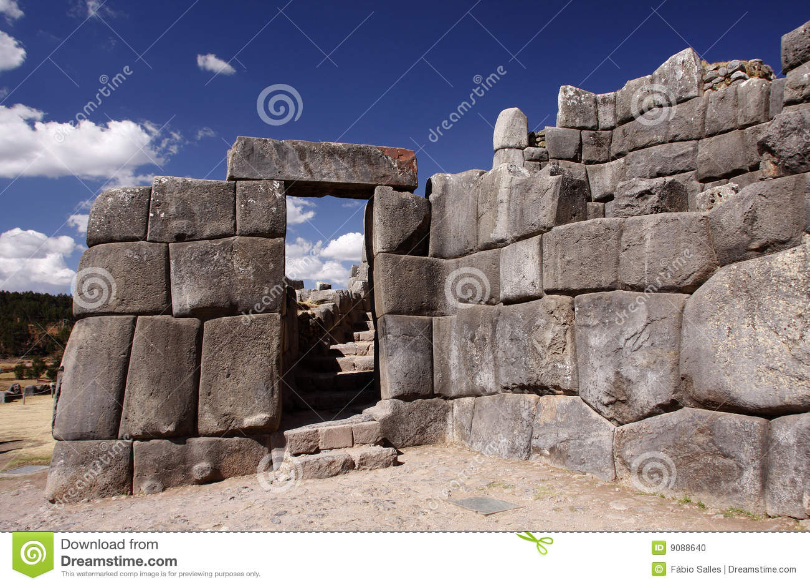 Inca Stone Wall In Cuz...
