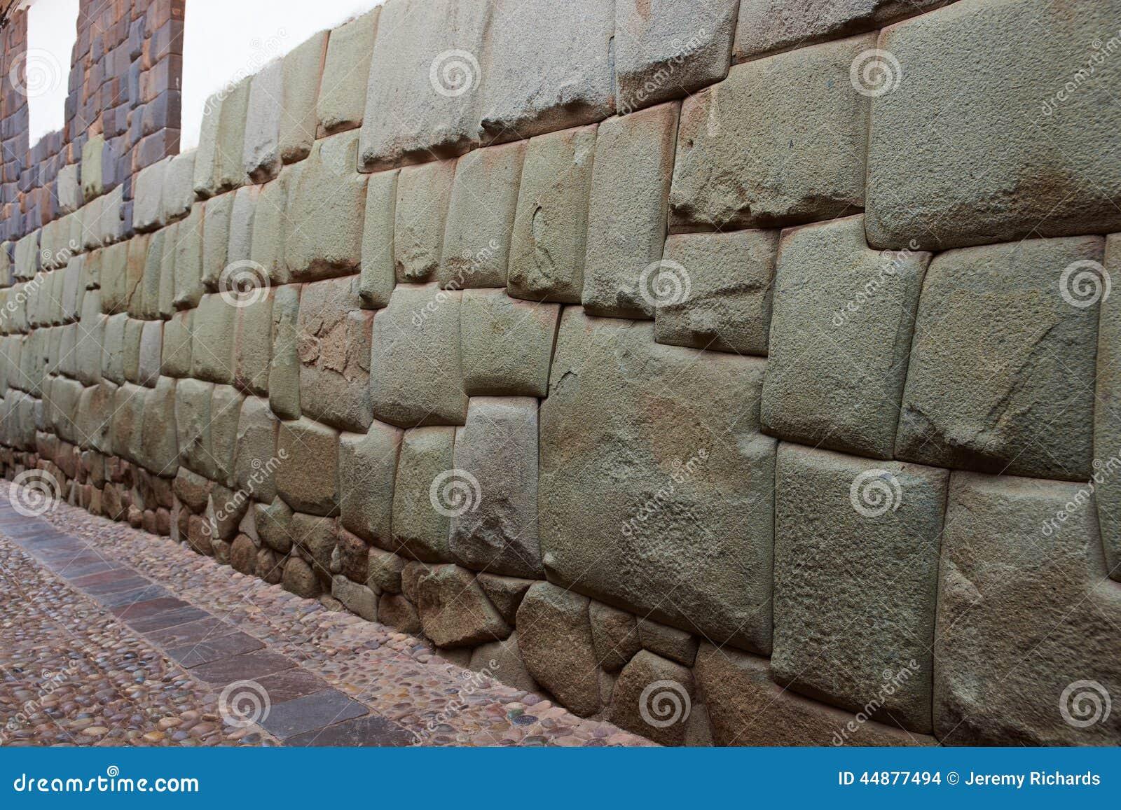 Inca wall stock photo image