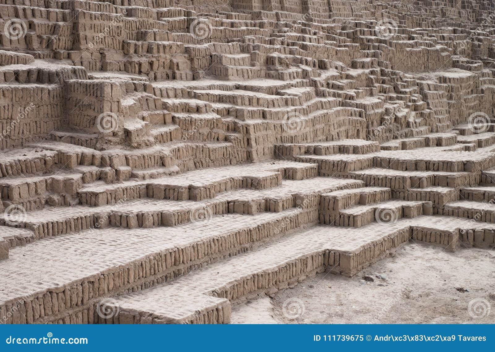 Incaen fördärvar texturbakgrund, Lima, Peru