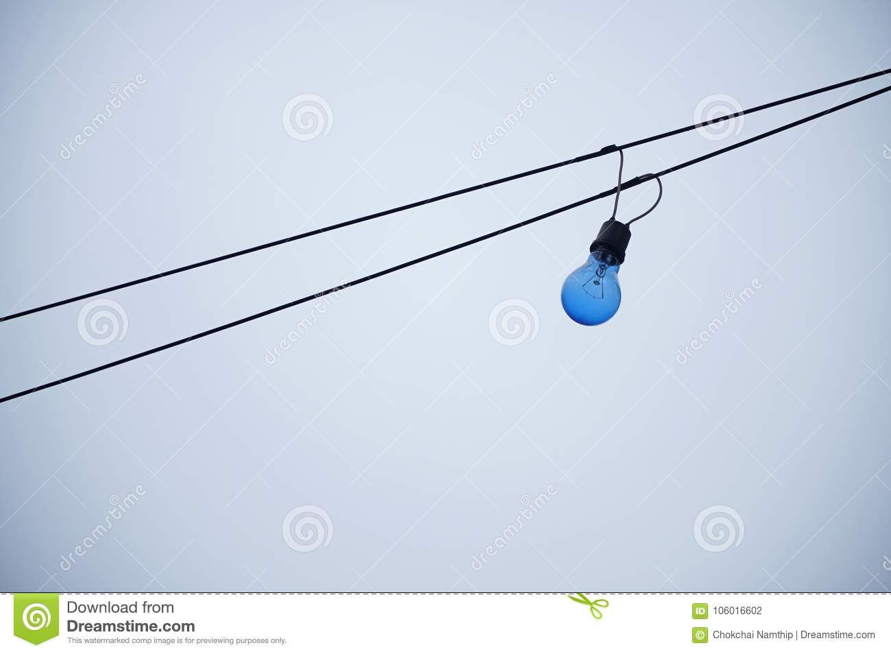Incandescent Bule With Two Wires White Background Light Bu Wiring Bulbs In Series Bulb