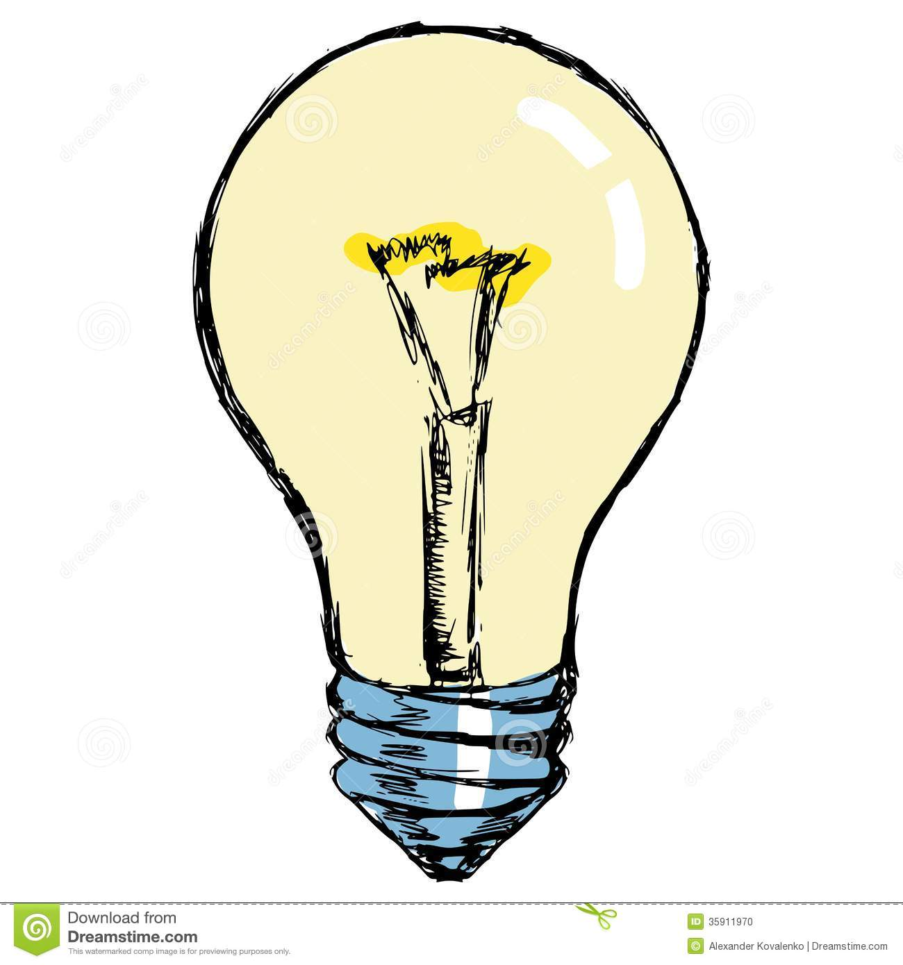incandescent lamp stock photo   image 35911970