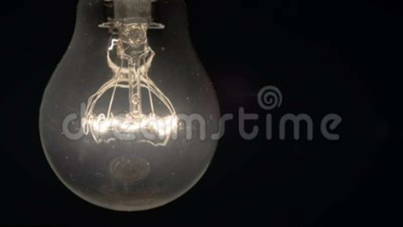 Incandescent lamp turns on, it shines brighter and brighter and burns out