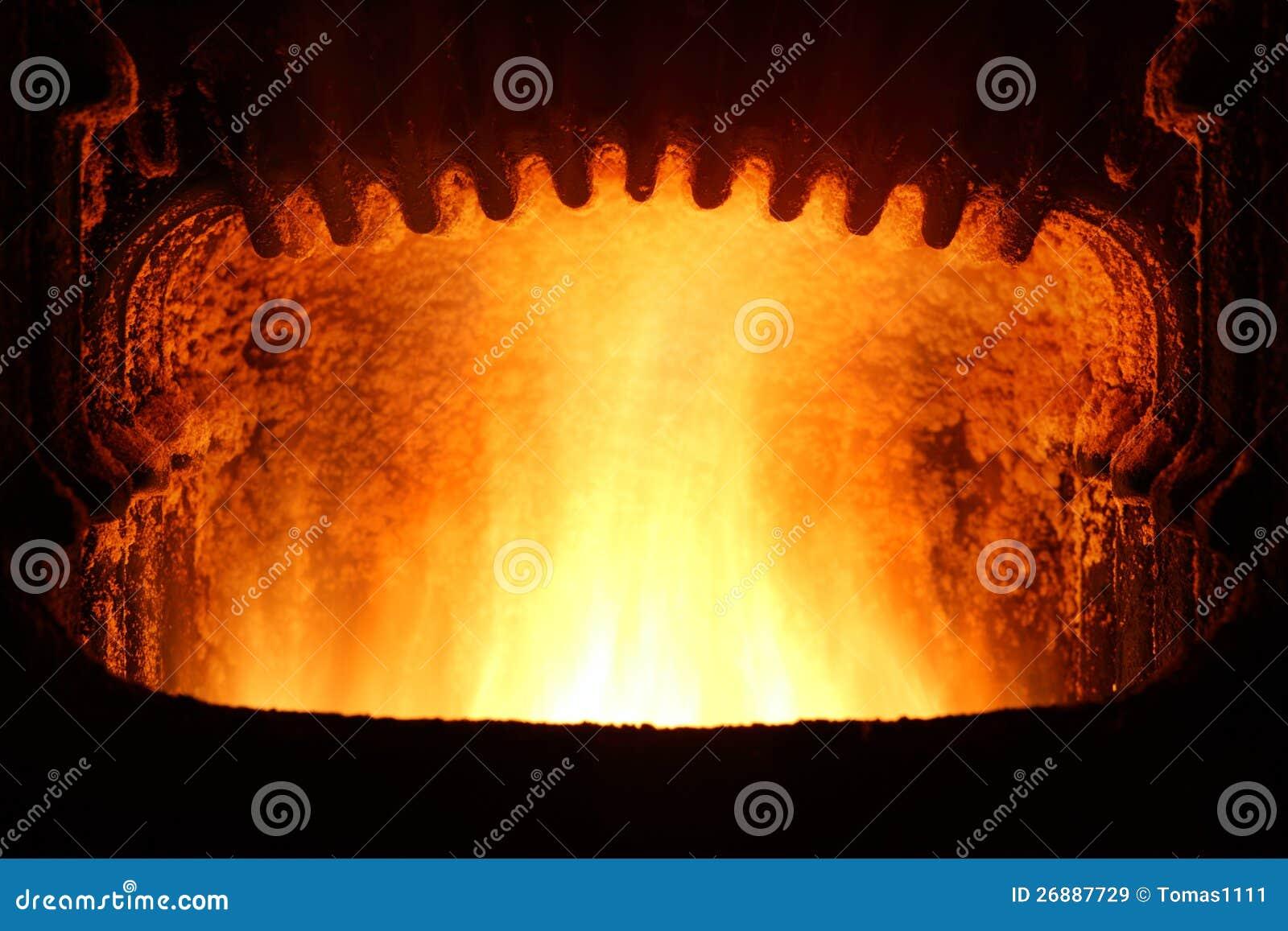 Incendie dans le four.