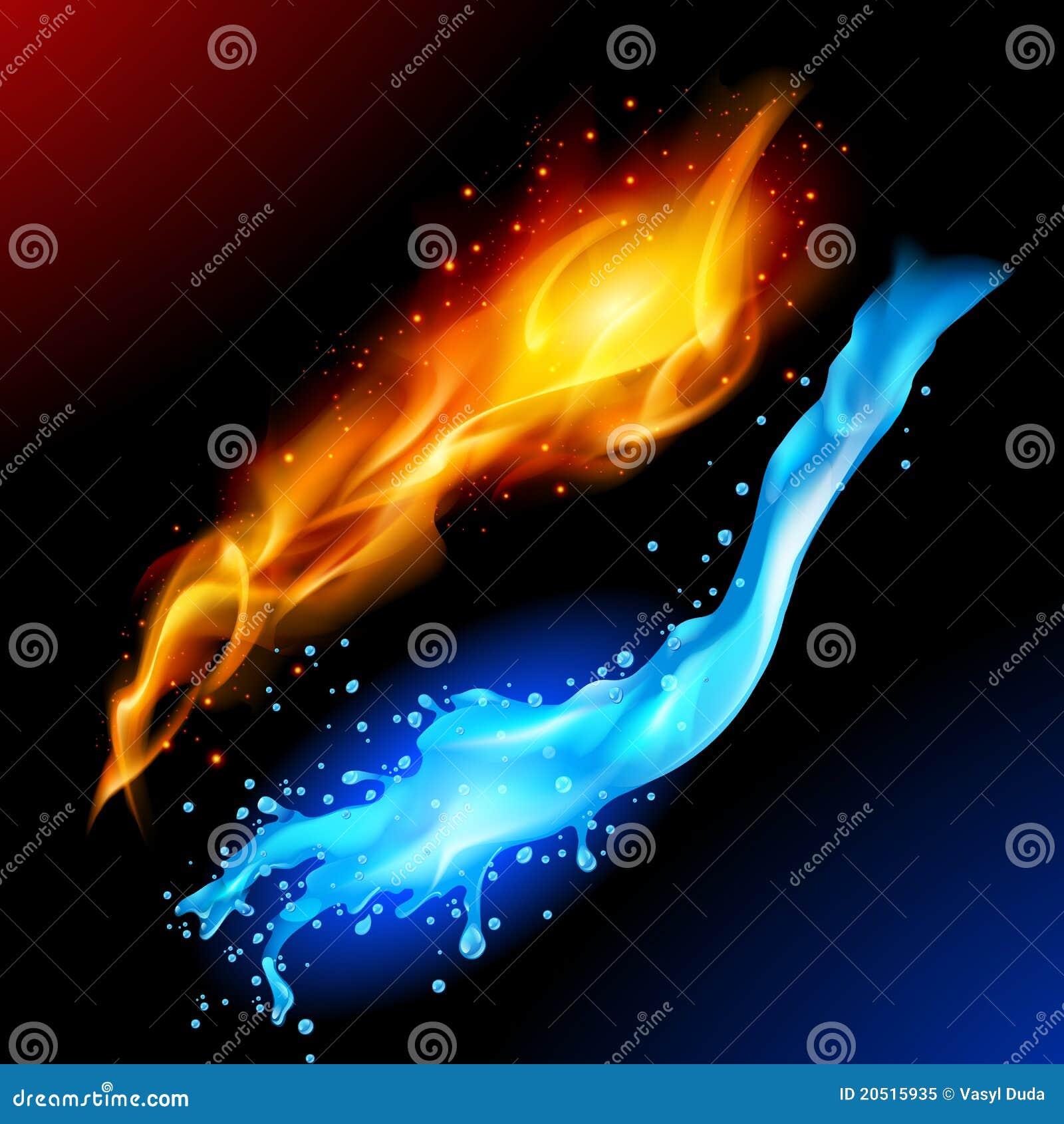 Incendie et eau