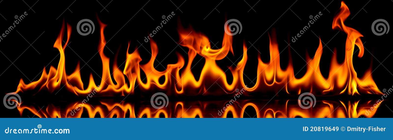 Incendie et flammes.