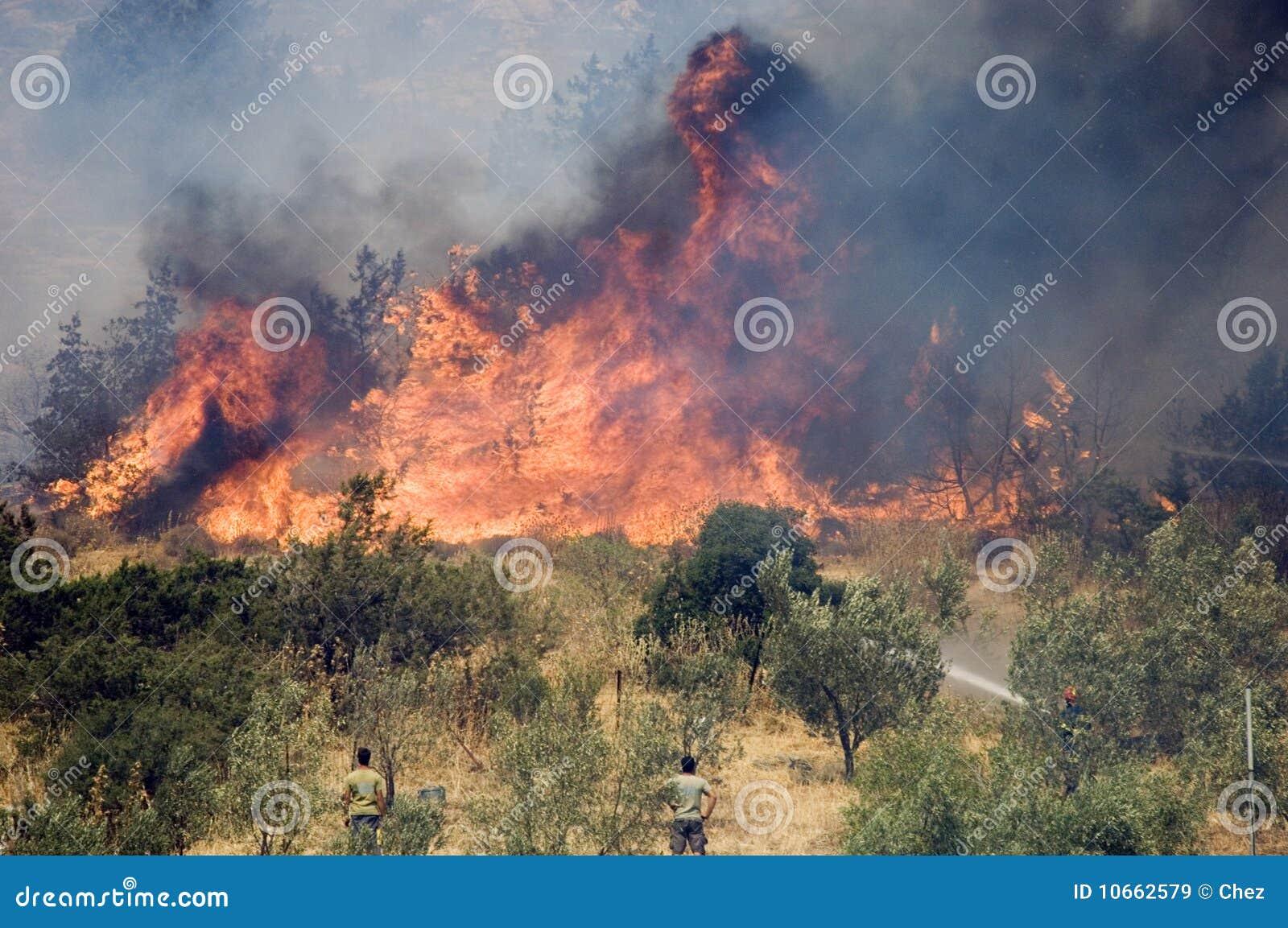 Incendios forestales de Atenas