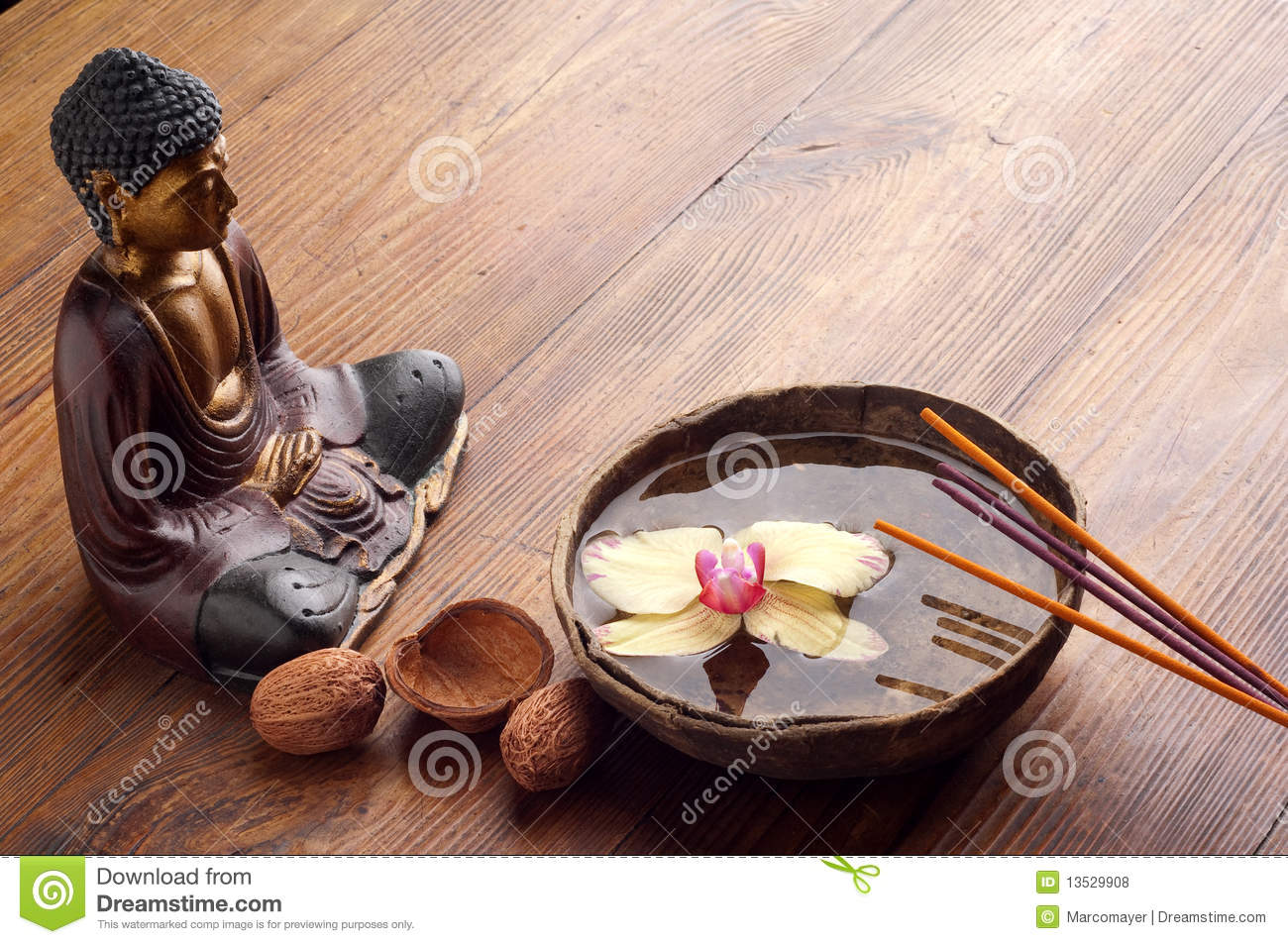 incense and buddha statue