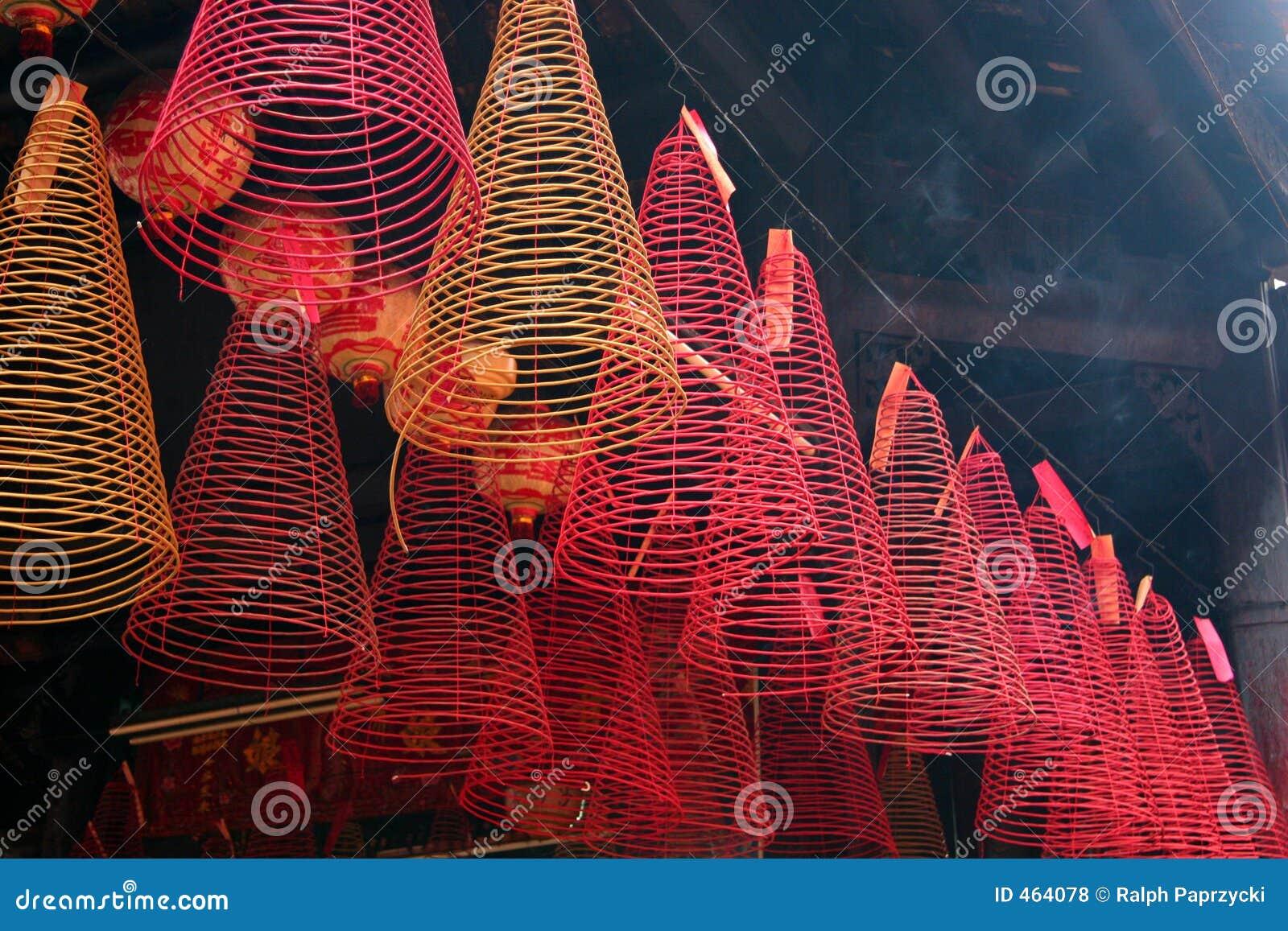 Incense, Pagoda de Hoi Quan do filho de Tam, Cholon (cidade) de China, Ho Chi Minh City