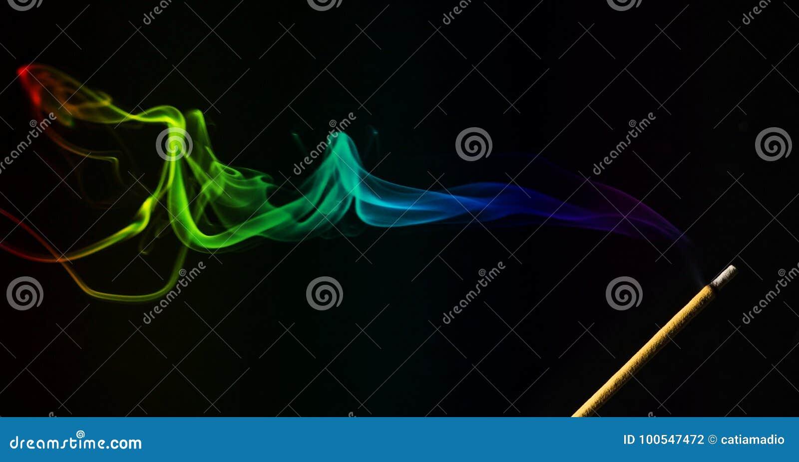 Incense smoke with stick