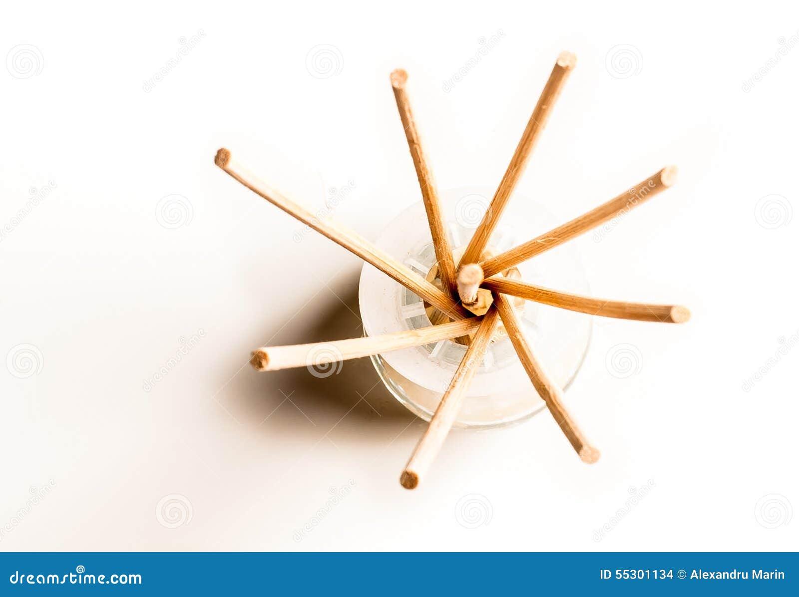 Incense sticks in a glass