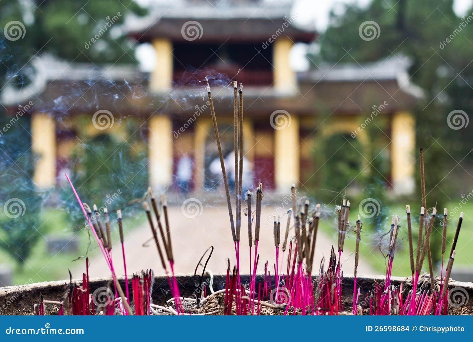 Incense sticks in Thien Mu Pagoda, Hue, Vietnam