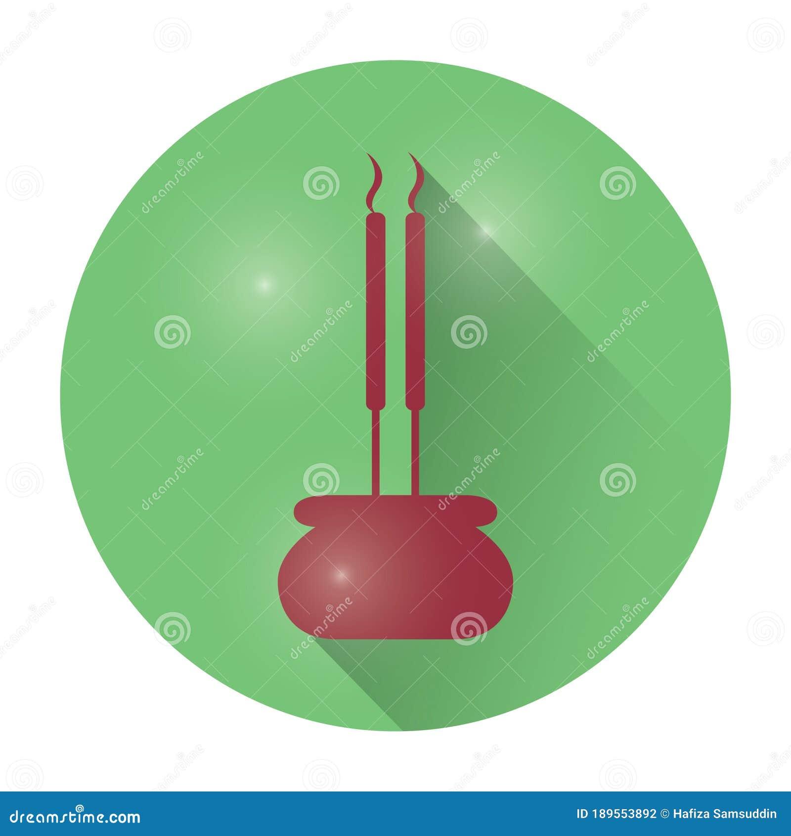 Incense Sticks Vector Illustration Decorative Design Stock Vector Illustration Of Relaxation Fragrance 189553892
