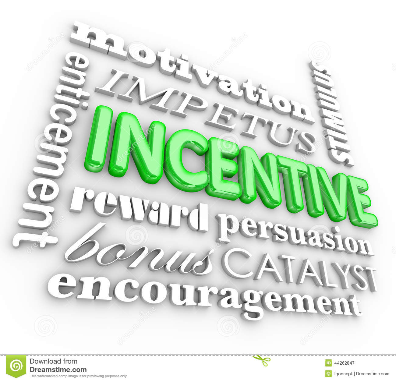 Incentive 3d Word Background Motivation Rewards Encouragement Stock ...