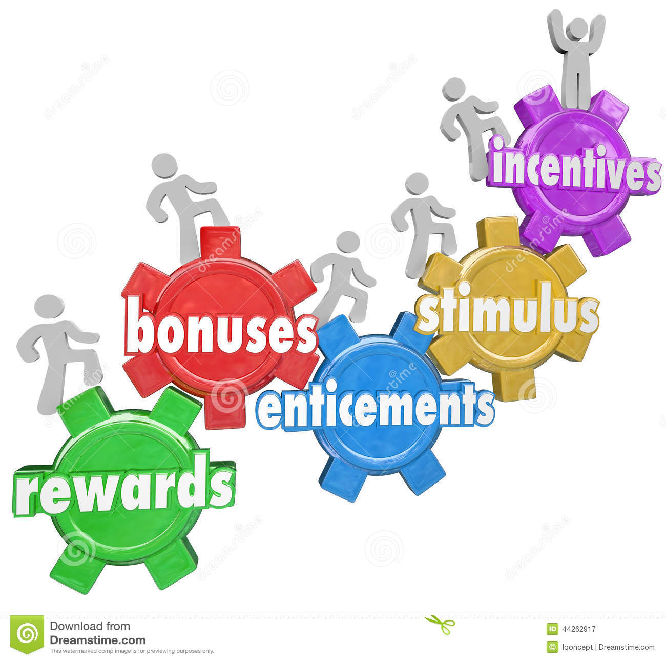 Incentives Rewards Bonuses Customers Workers Climbing Heigher Stock ...