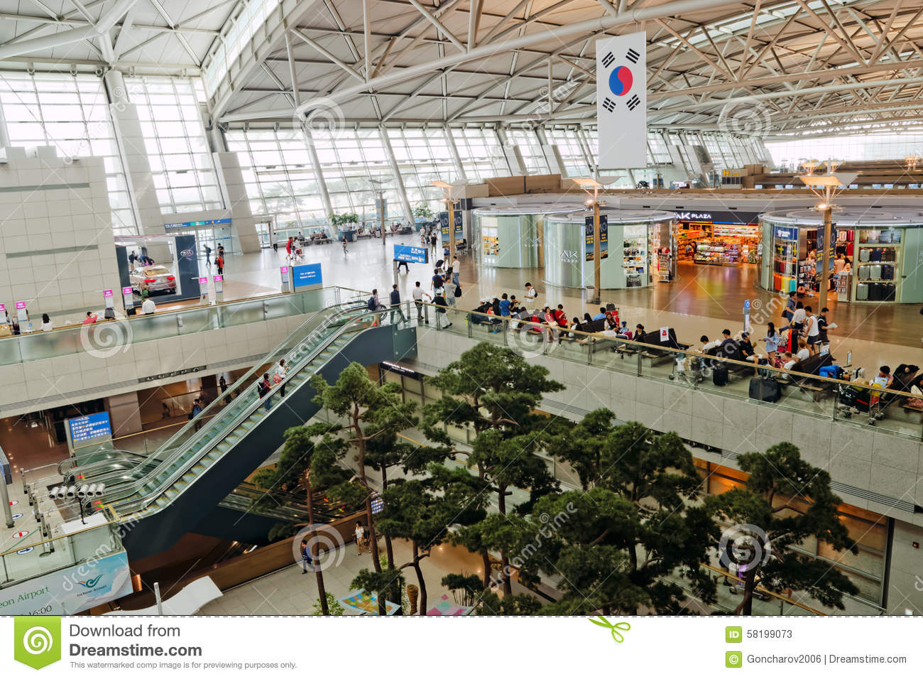 Incheon International Airport Seoul South Korea Editorial Stock
