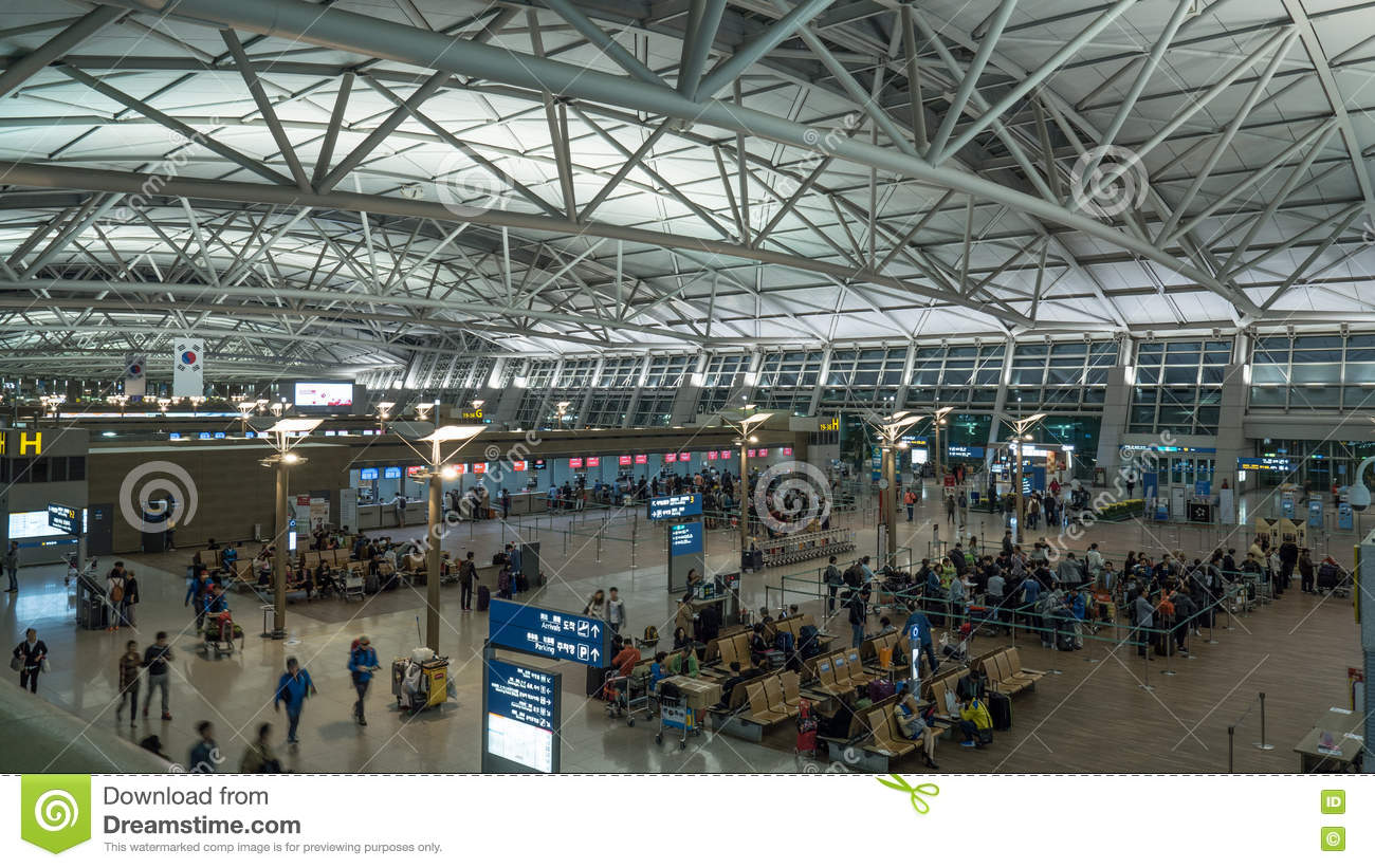 Incheon International Airport In Seoul, South Korea Editorial ...