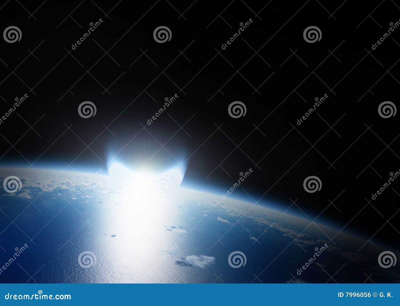 Incidence en forme d étoile de la terre de catastrophe